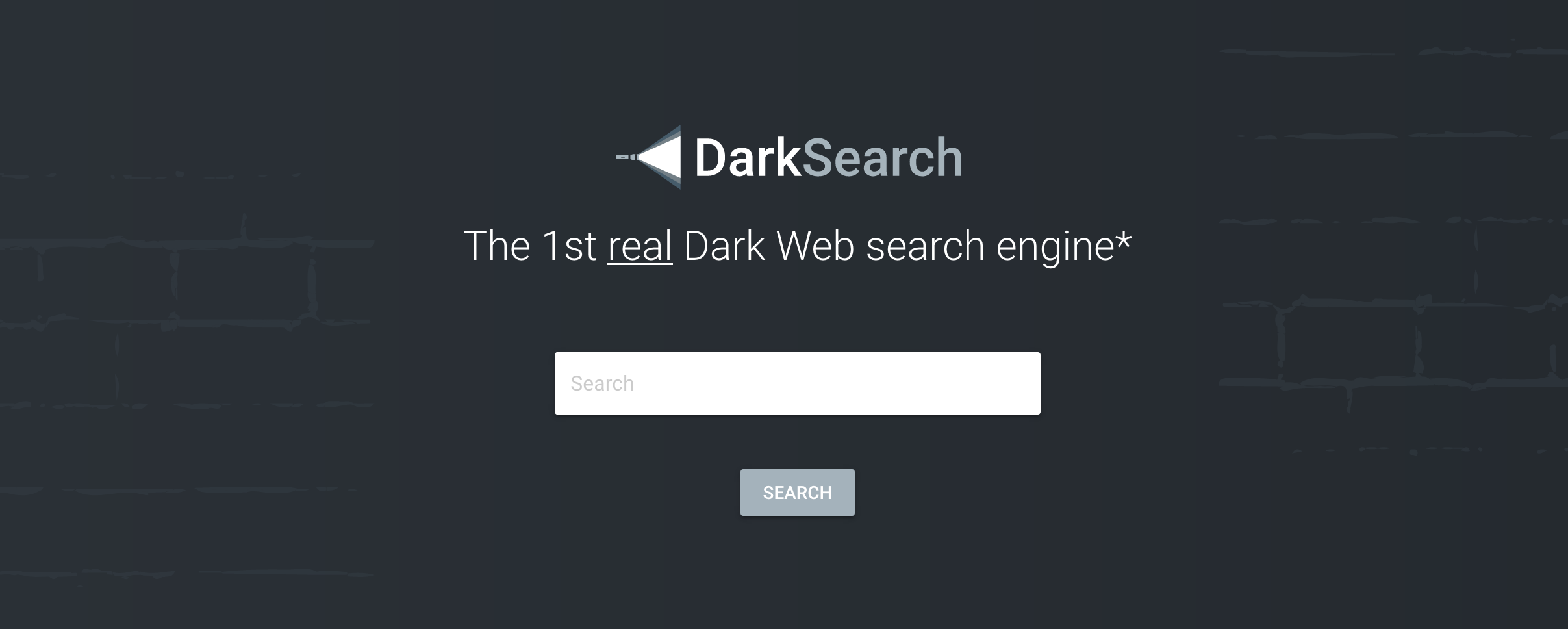Dark web search engine