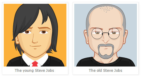 The Young And Old Steve Jobs In Cartoon By Pickaface Medium