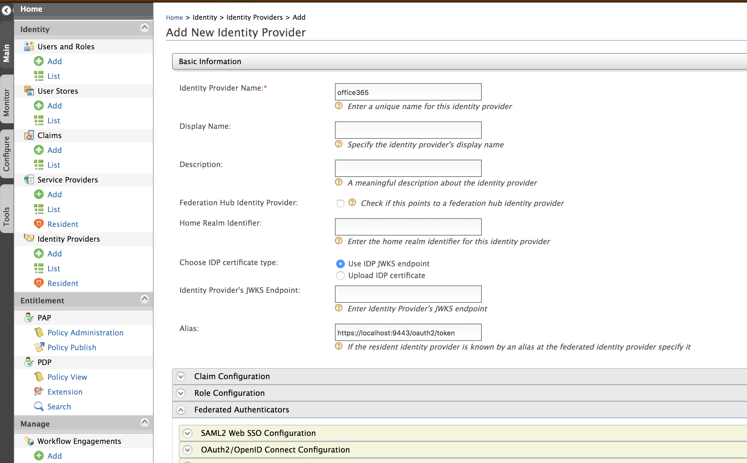Configuring Microsoft Azure AD Authenticator as Federated