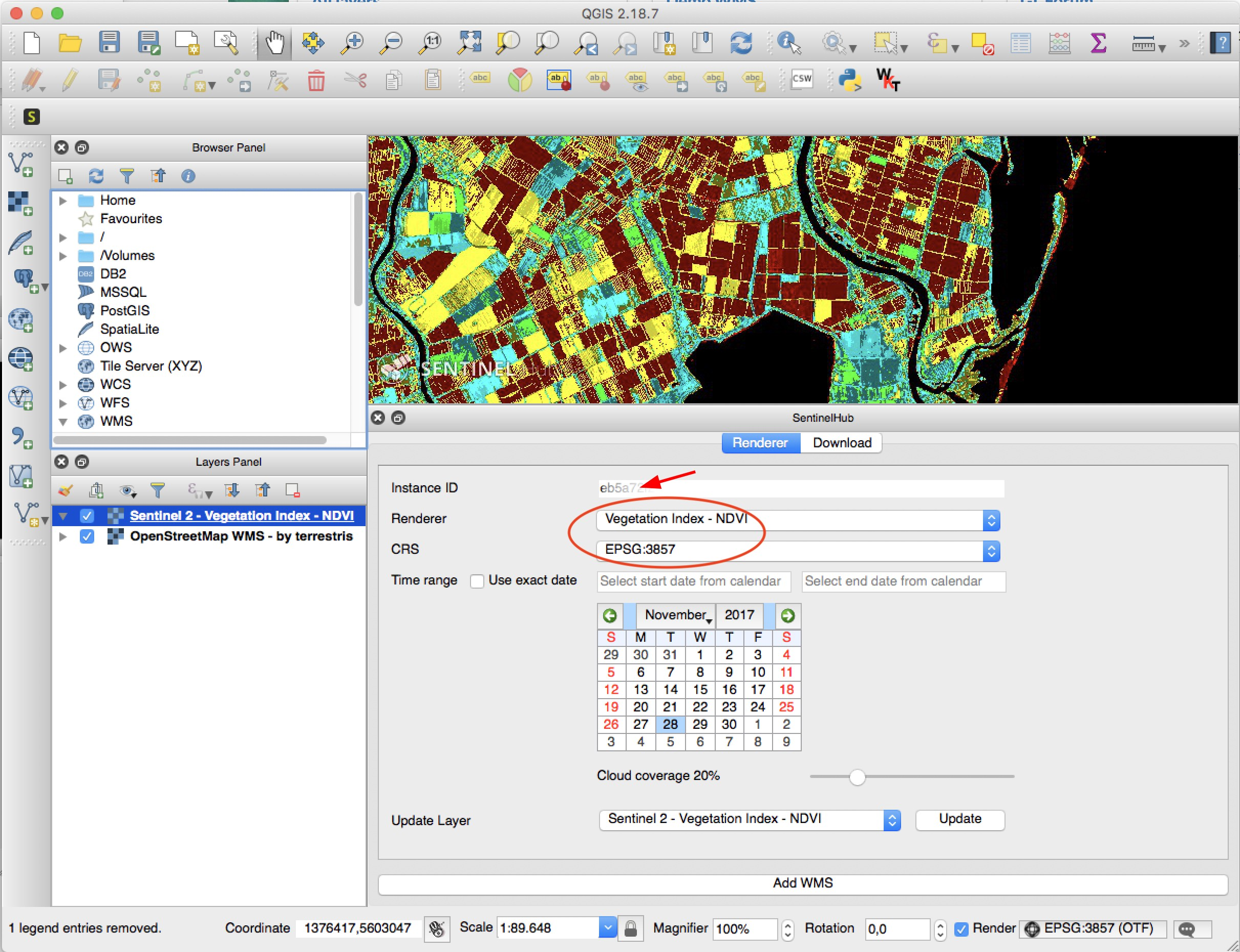 Control Sentinel Hub from within QGIS - Sentinel Hub Blog