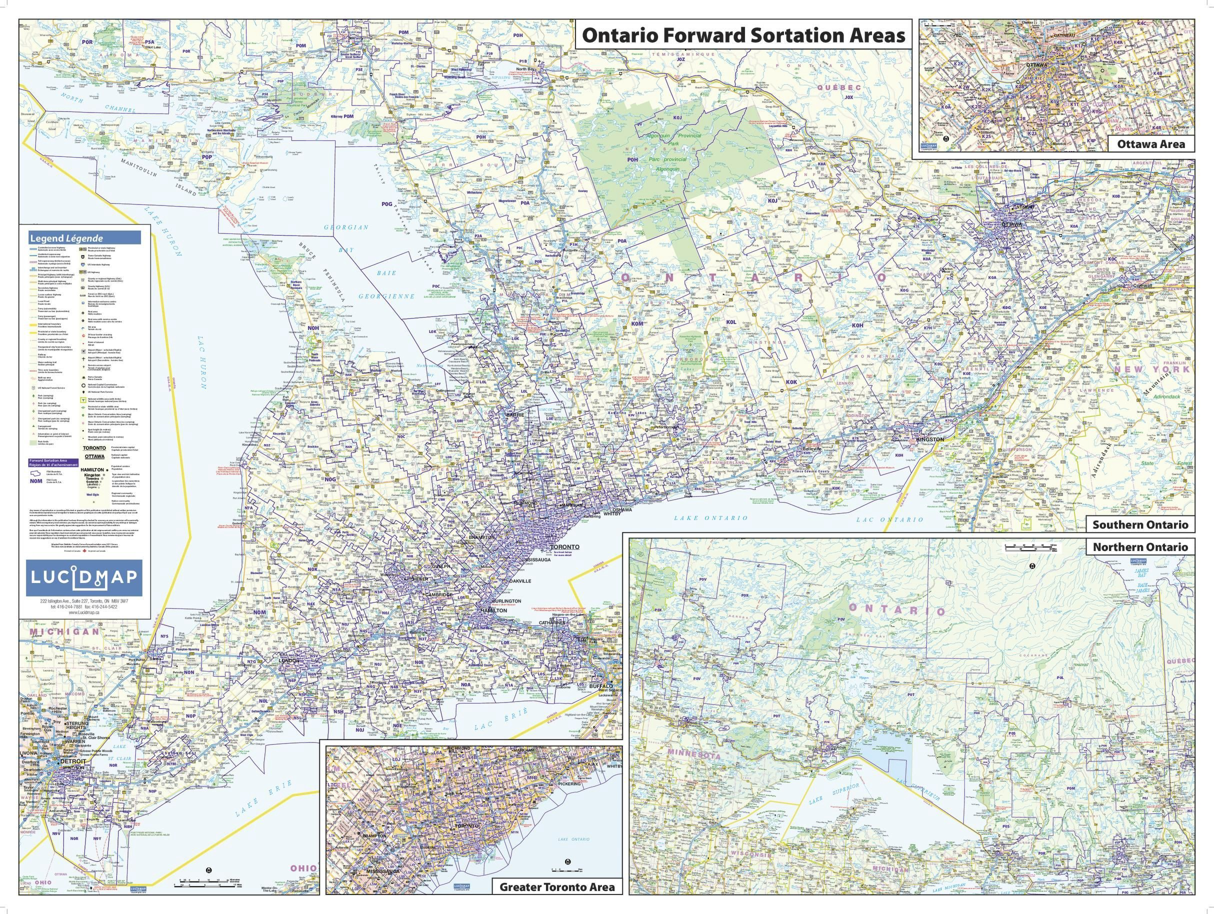Postal Code Map Of Ontario Fsa Take A Look At The Most Informational By Maptrove Canada Medium