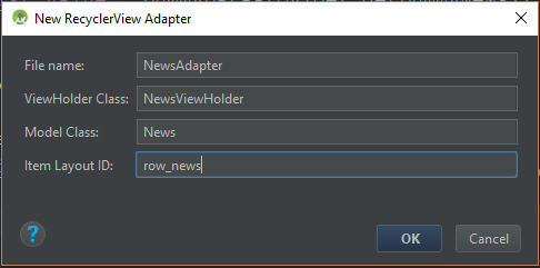 File template for RecyclerView Adapter in Kotlin - ProAndroidDev