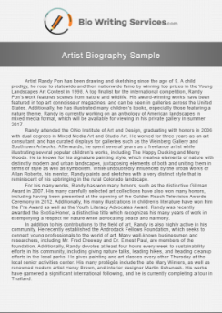 Best Famous Artist Biography Is Here - Bio Writing Services