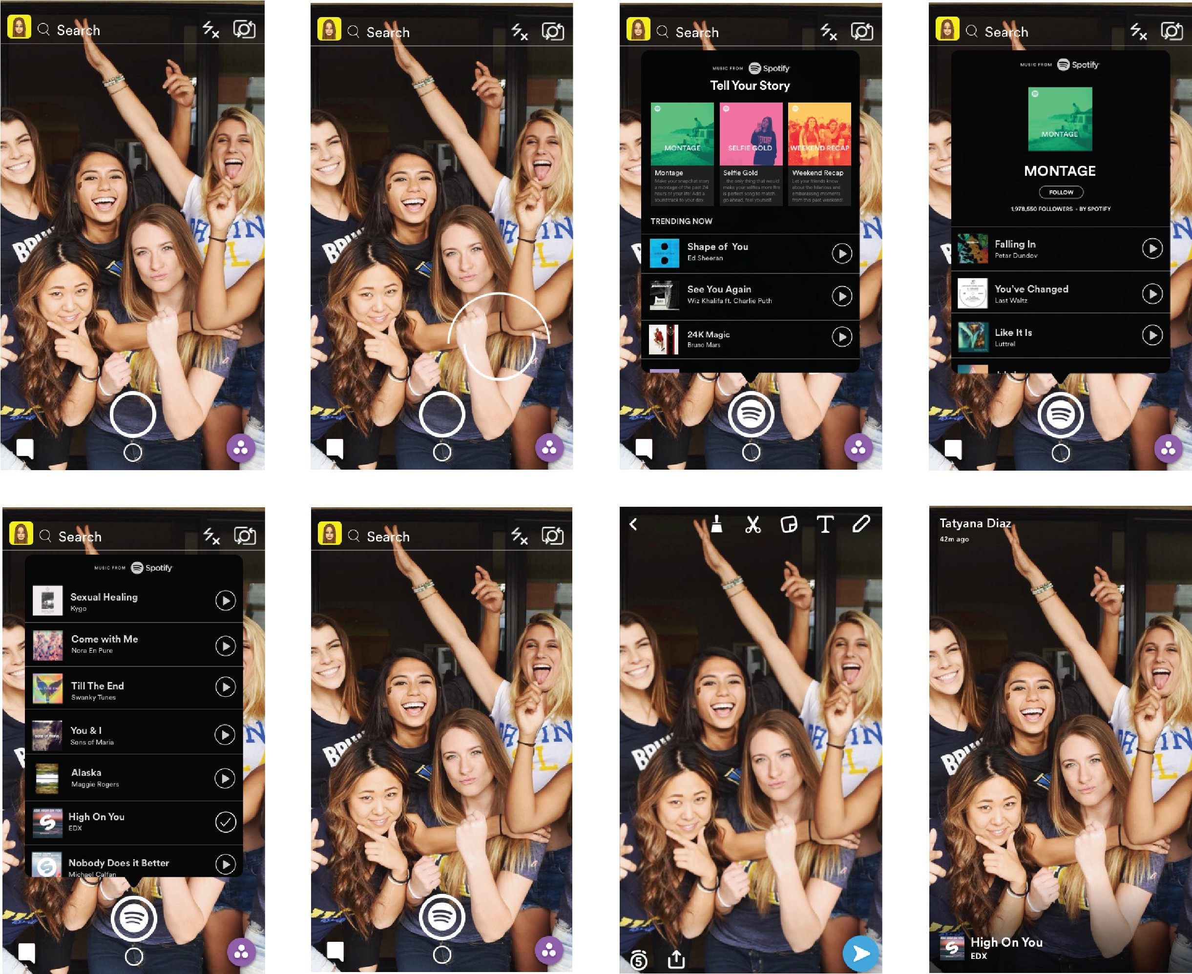 Spotify on Snapchat - Prototypr