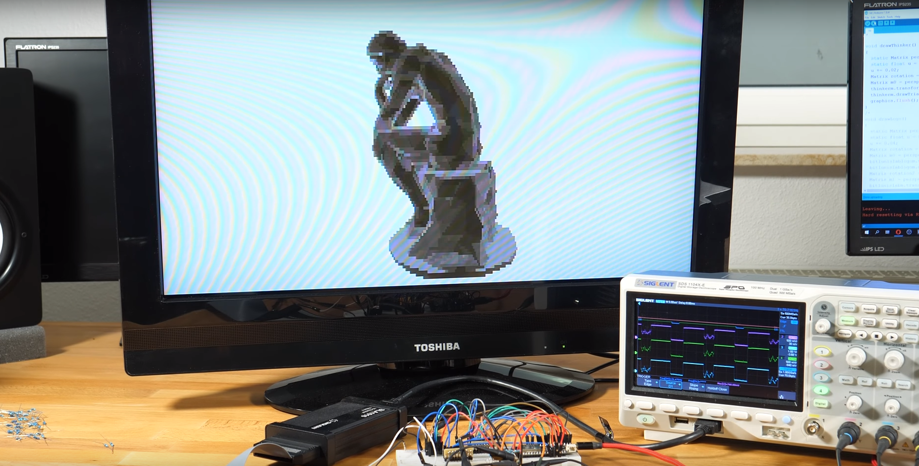 Render 3D Models with an ESP32 Microcontroller That Uses VGA