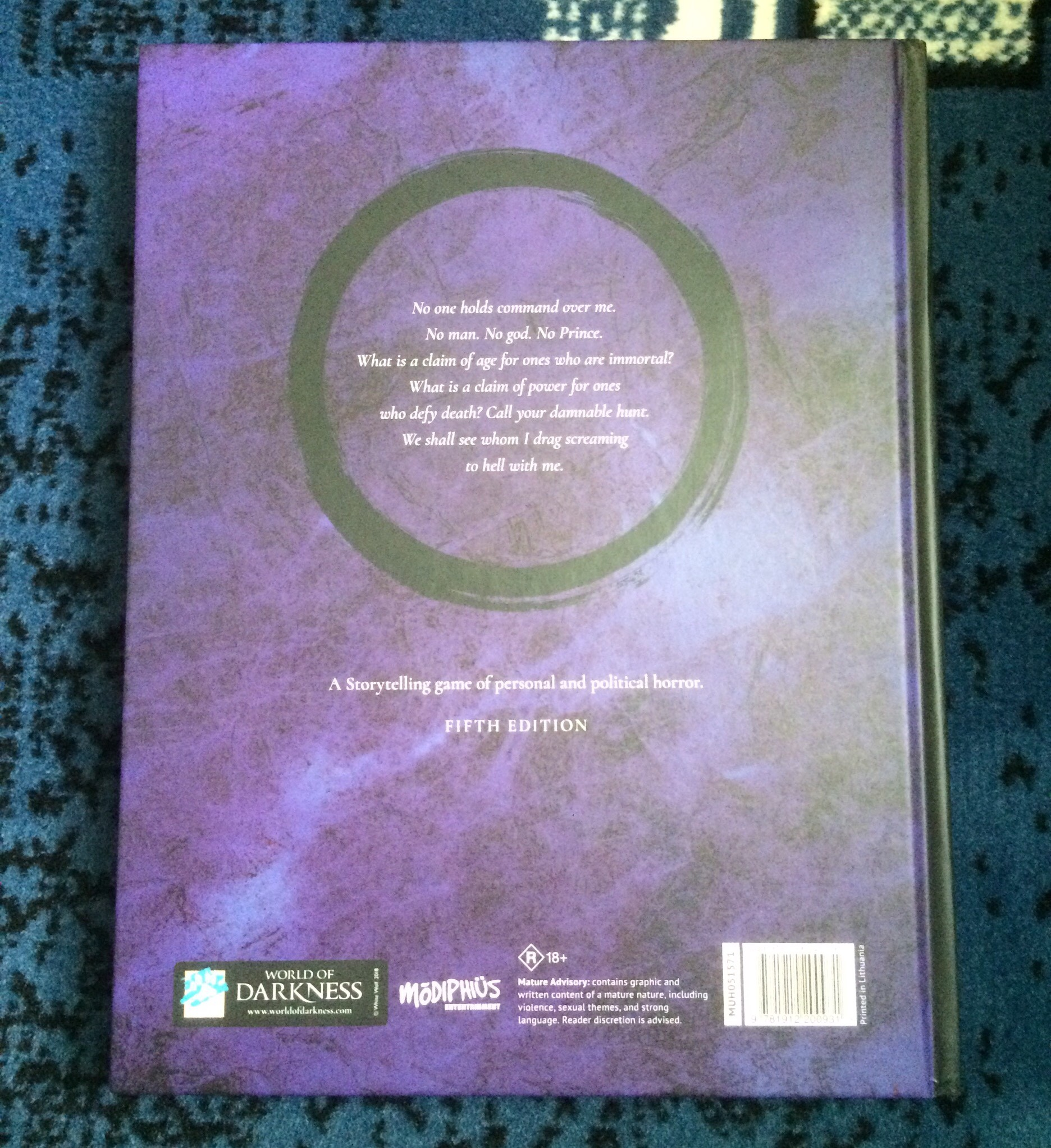 Reviewing The Vampire: The Masquerade Rule Books: Part 1