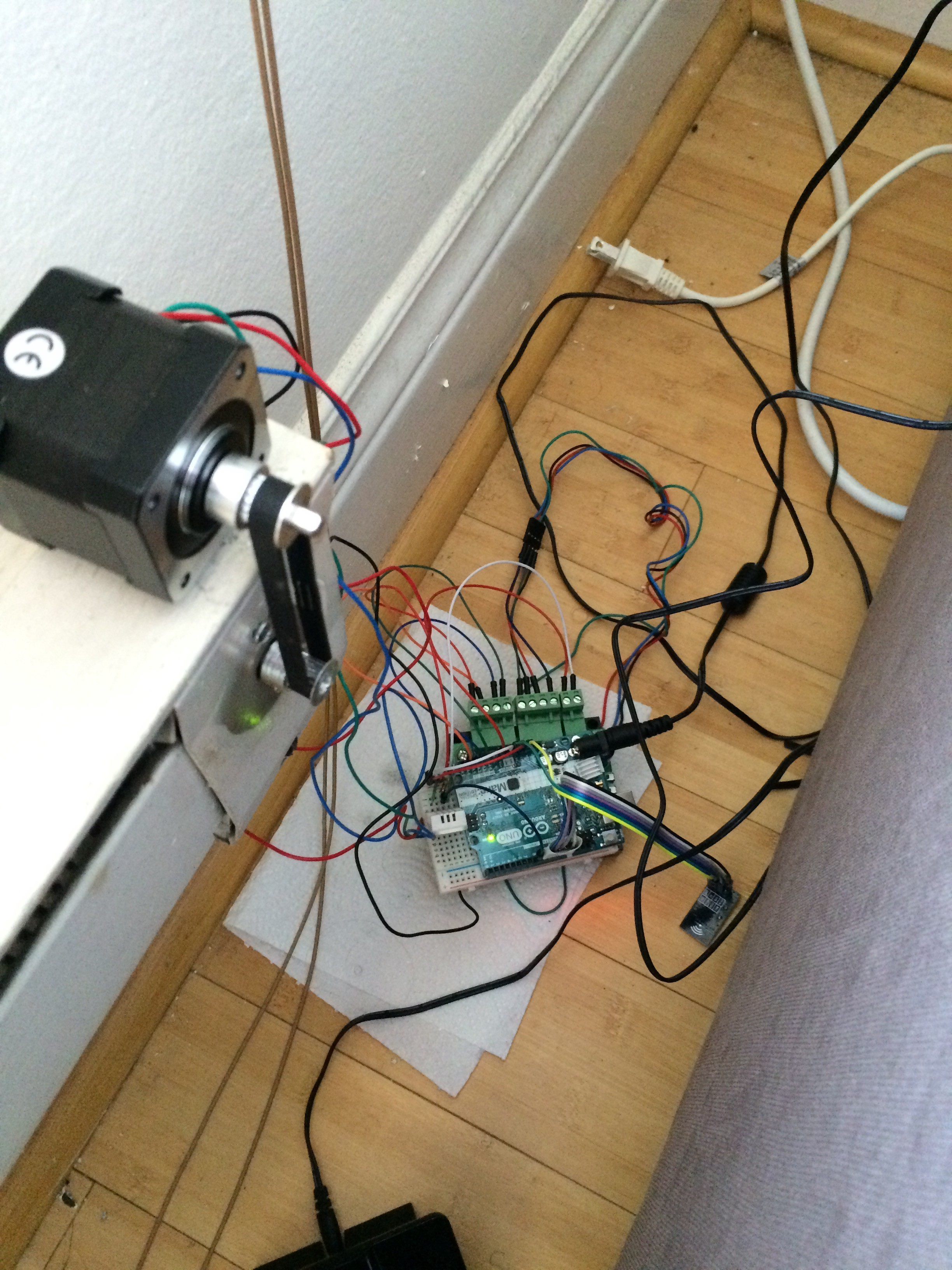 Controlling The Stepper Motor Wirelessly Through Rf Link We Are Using