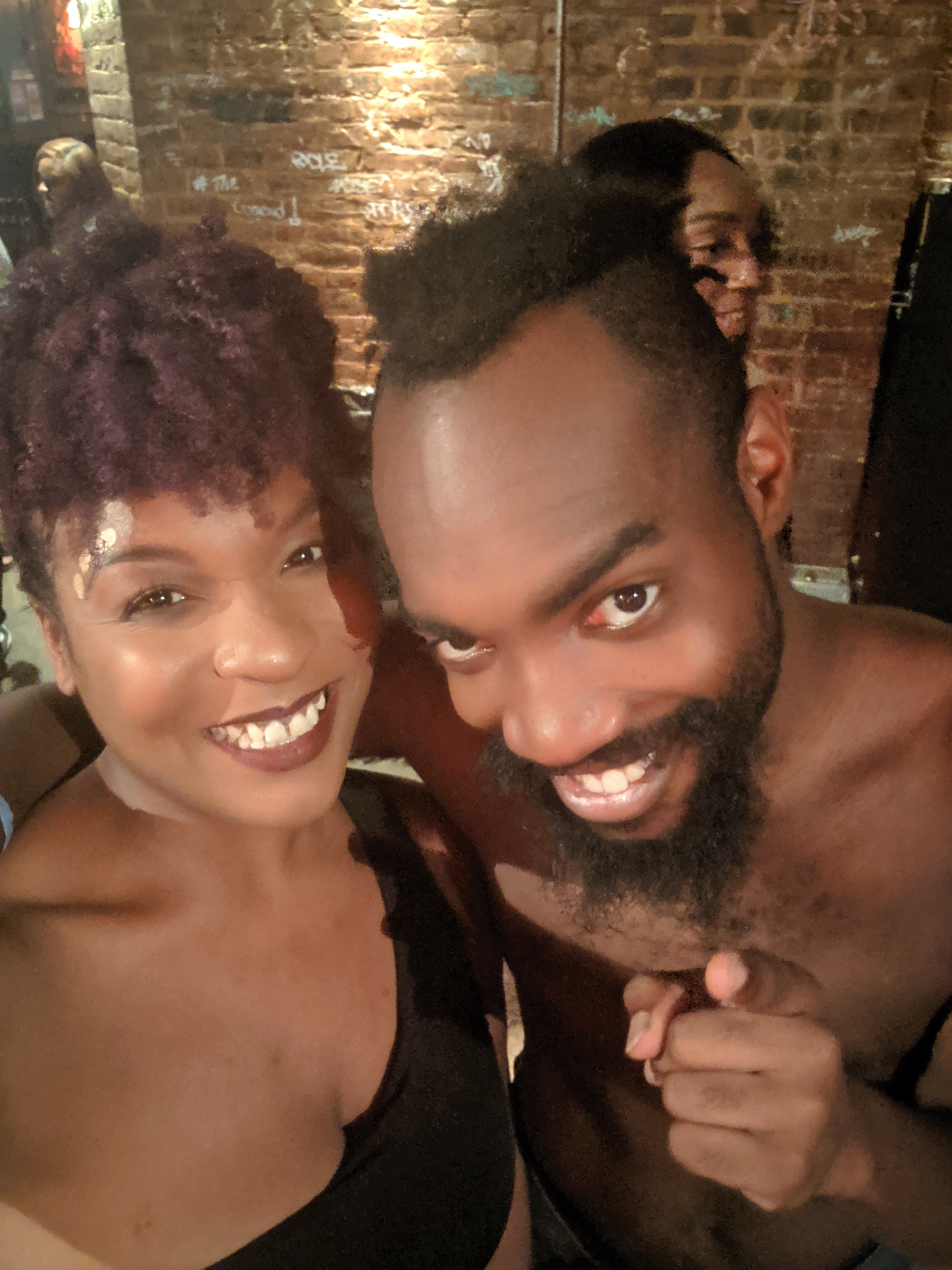 Writer Ajah Hales poses for a selfie with Bari Bass