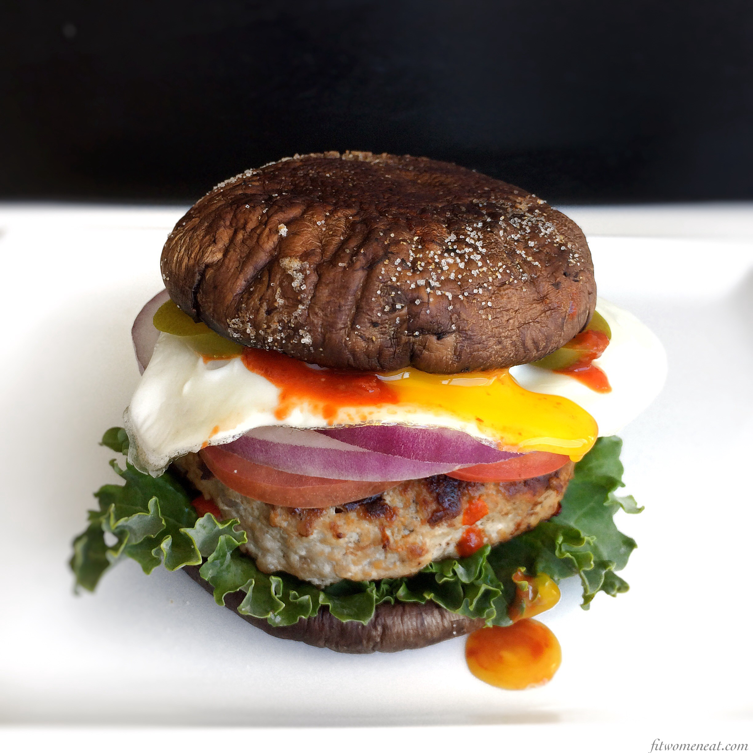 Portobello Mushroom Turkey Burger By Fit Women Eat Fit Women Eat