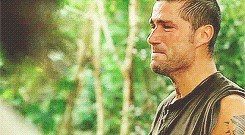 """Jack Shepherd reacts to Sawyer's revelation about his conversation with Jack's father. From """"Exodus, Part I."""""""