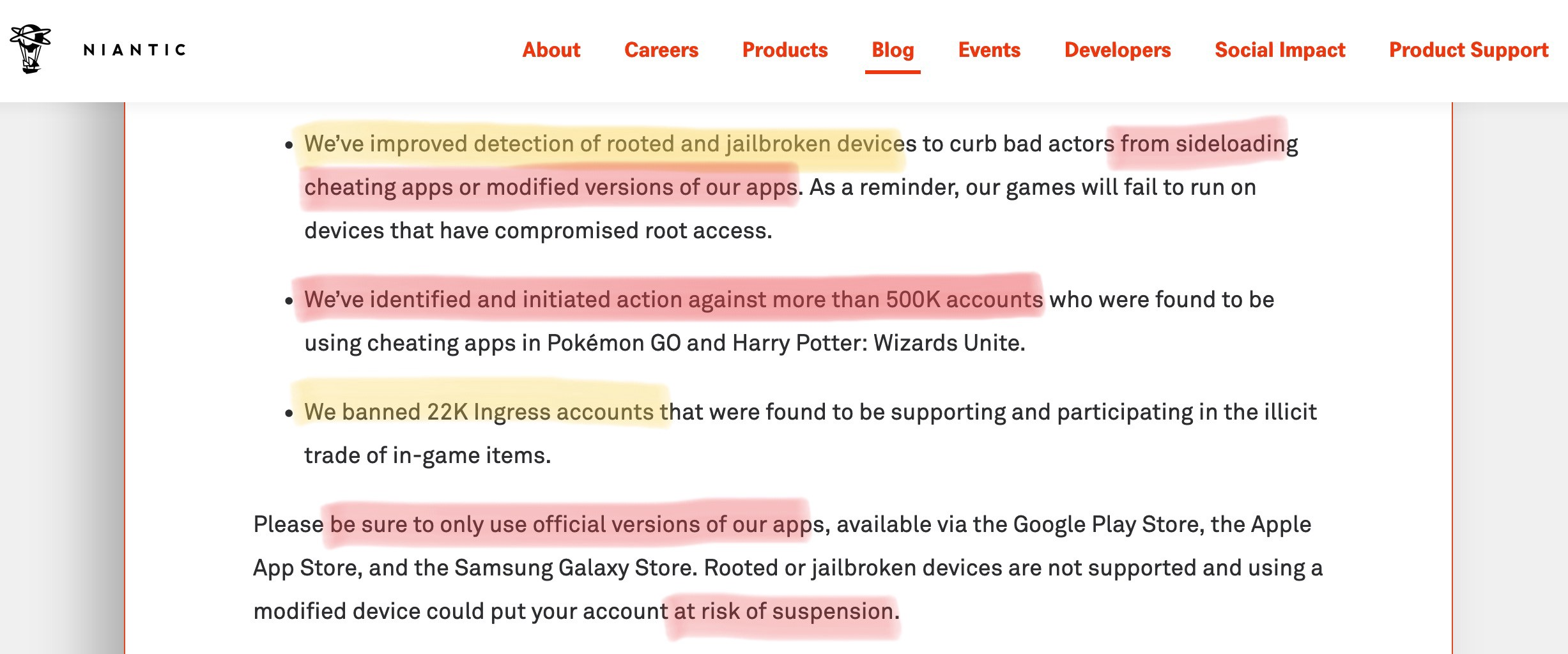 Aug 2019] Niantic Official 500K BAN WAVE for iSpoofer Users
