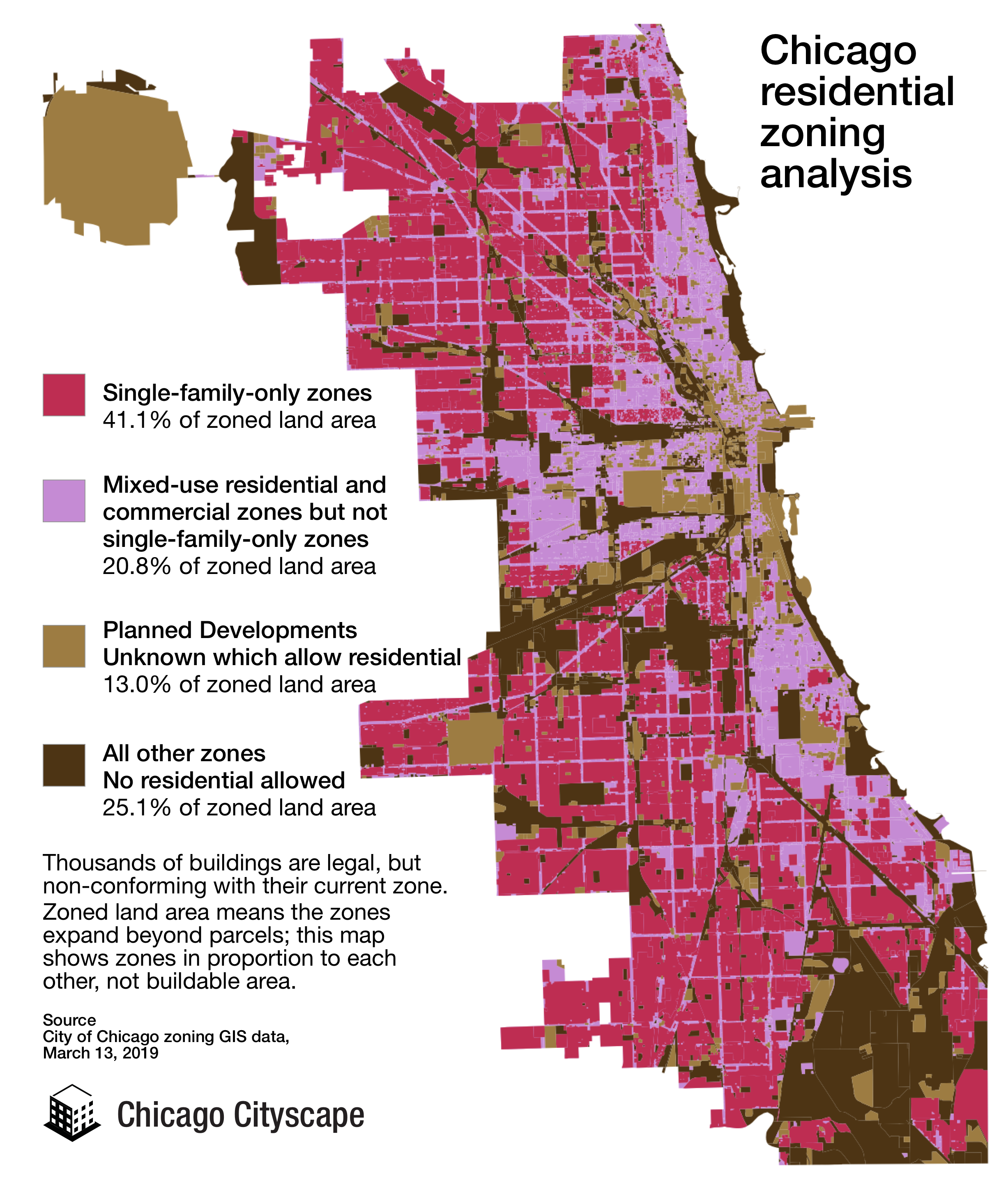 Apartments & condos are banned in most of Chicago - Chicago ... on chicago attraction map interactive click, chicago cemetery map, chicago zones, chicago residential parking permit, chicago and surrounding suburbs maps, chicago municipal code, chicago temperature map, chicago arcology map, chicago permit parking map, chicago annexation map, chicago budget, chicago street index, chicago topography map, chicago construction map, chicago submarket map, denver rtd light rail route map, a long way from chicago map, chicago metra system map, chicago zip code map printable, chicago watershed map,