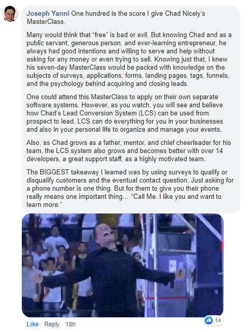 LCS Squared Review:Chad Nicely and Daven Michael's 3-day business master class (Customers Testimonials)