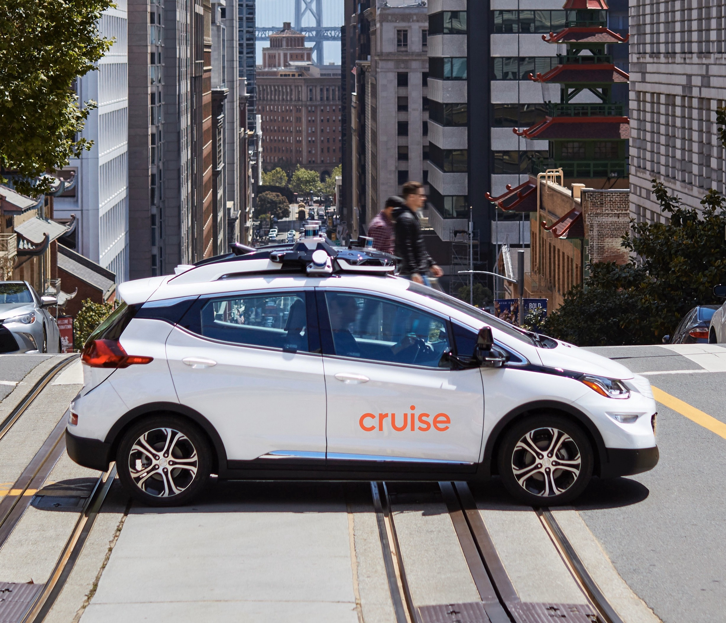 Cruise's self-driving car on the streets of SF.