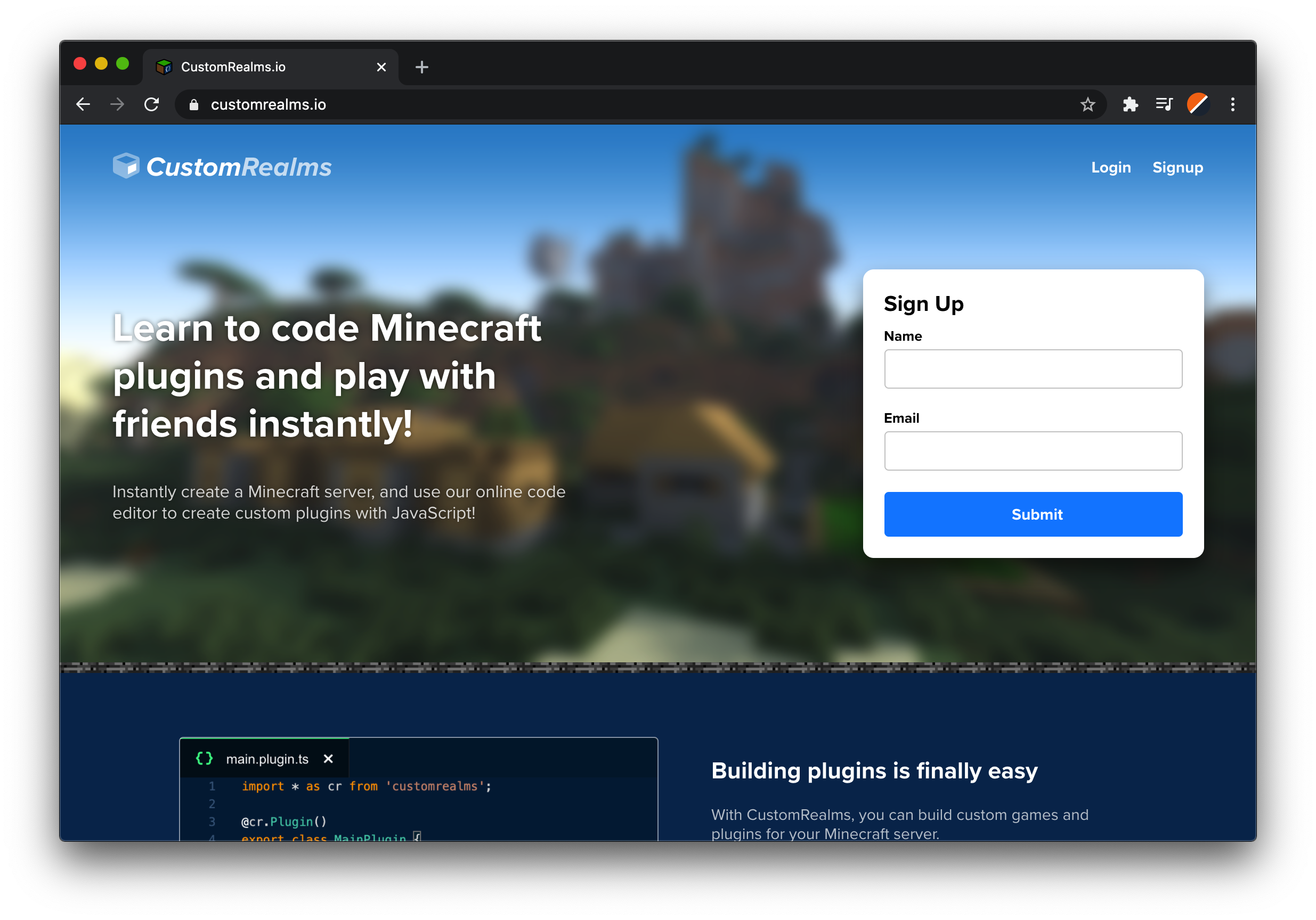Build Your First Minecraft Plugin In Javascript And Typescript By Customrealms Medium