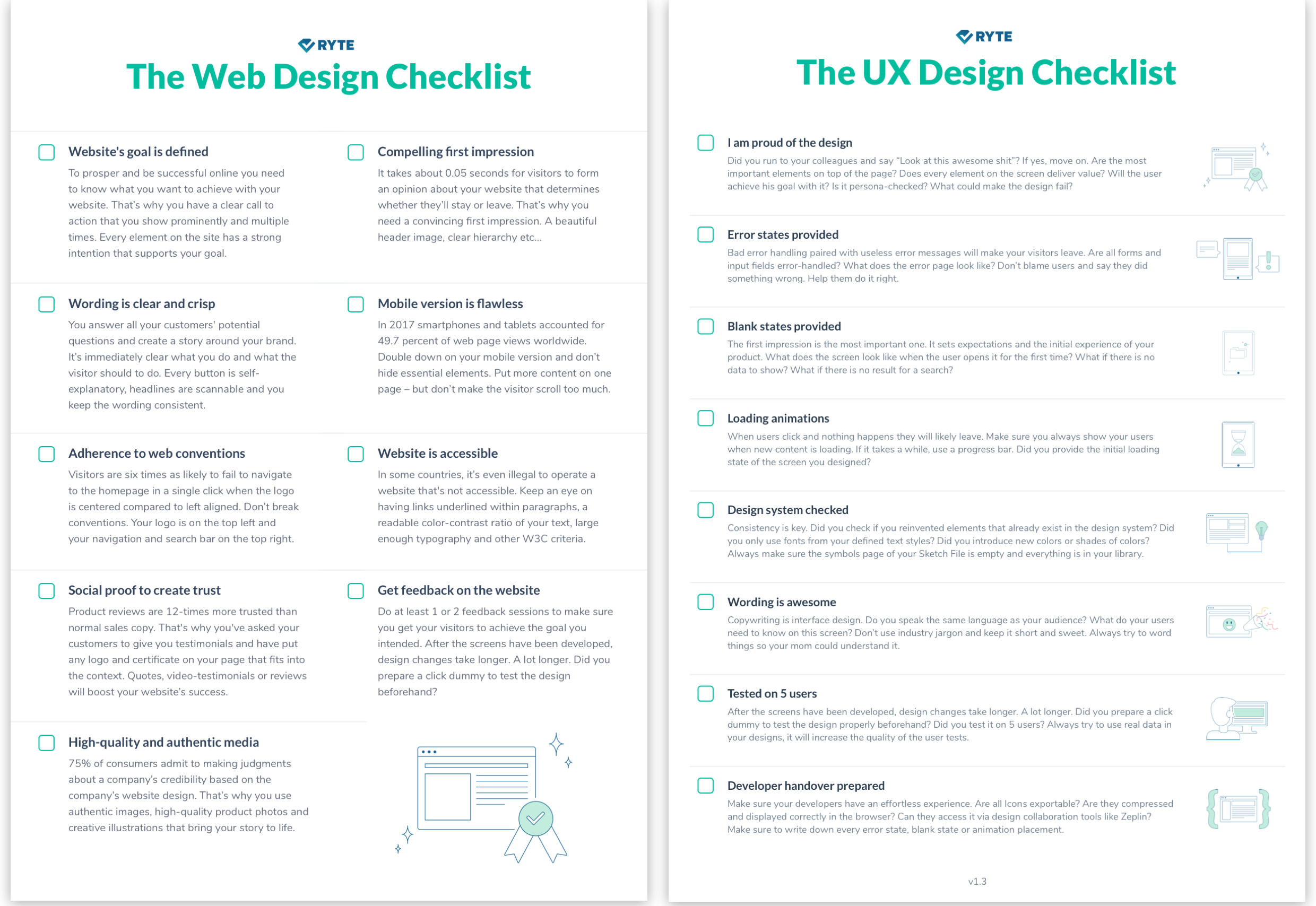 A Checklist For Checklists ux checklists: how to tailor them to your needs - ux collective