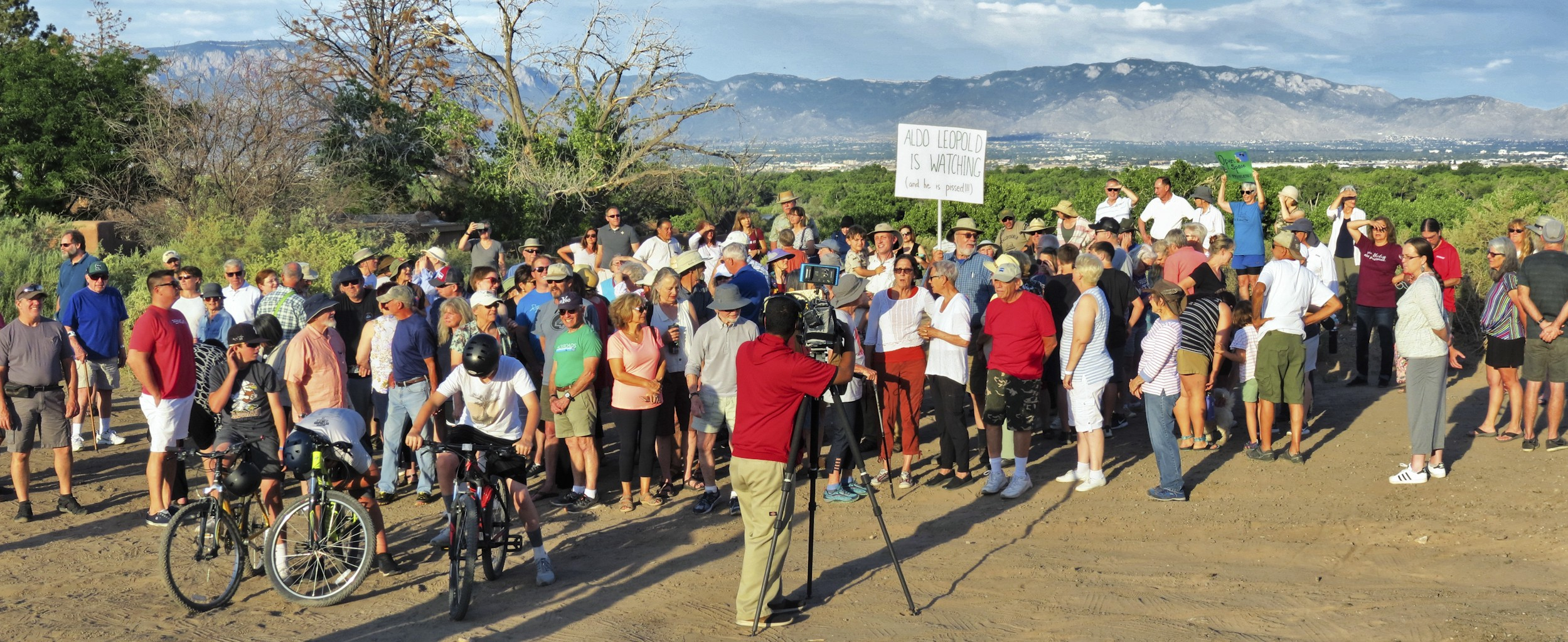 About 130 people gathered to show their support for the wetland.