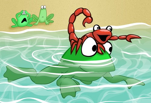 Story frog the scorpion and the Tell The