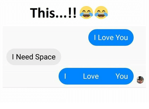 I need some space meaning