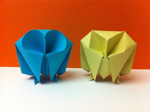 Easy origami owl. How to make paper birds - YouTube | 374x500