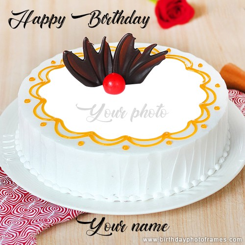 Pleasant Happy Birthday Cake Edit With Name And Photo Birthdayphotoframes Personalised Birthday Cards Epsylily Jamesorg
