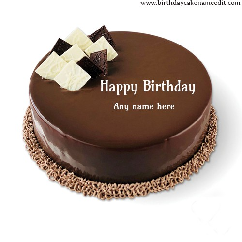 Incredible Happy Birthday Chocolate Cake With Name Edit Funny Birthday Cards Online Eattedamsfinfo