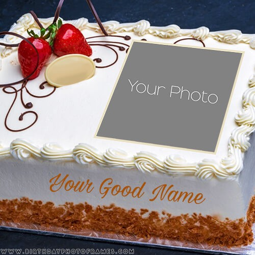 Prime Birthday Cake With Name And Photo Editor Online Free Personalised Birthday Cards Veneteletsinfo