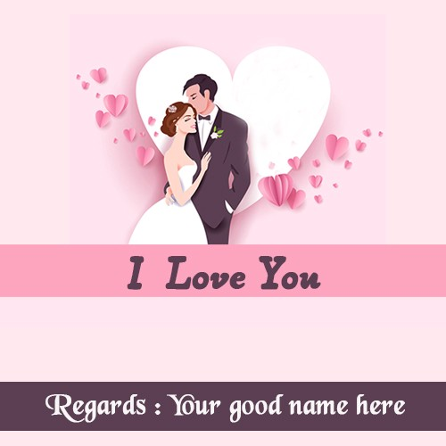 I Love You Romantic Couple Image With Name Sup Drew Medium