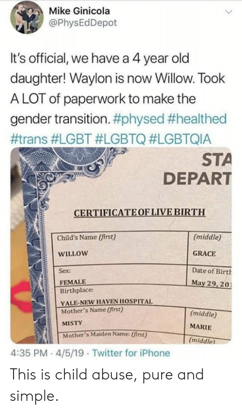 Dear Fellow Human Who Sent My Family Hate Mail - Gender From