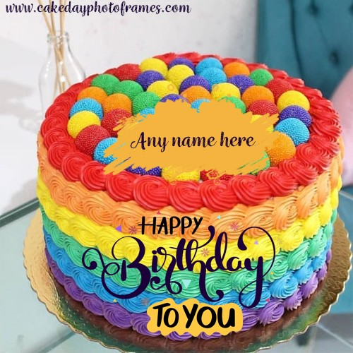 Tremendous Happy Birthday Cake With Name Edit Free Download Personalised Birthday Cards Veneteletsinfo