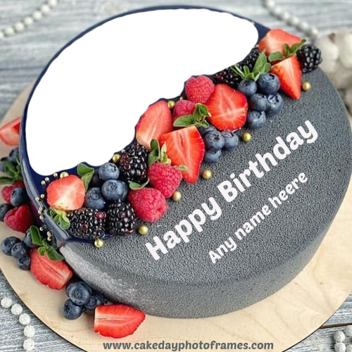 Outstanding Happy Birthday Cake With Name And Photo Free Download Birthday Cards Printable Trancafe Filternl