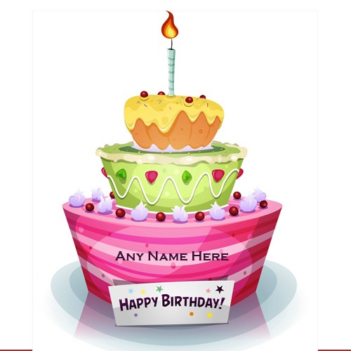 Peachy 3 Layer Birthday Cake For Life Partner With Name Wishme29 Medium Funny Birthday Cards Online Overcheapnameinfo