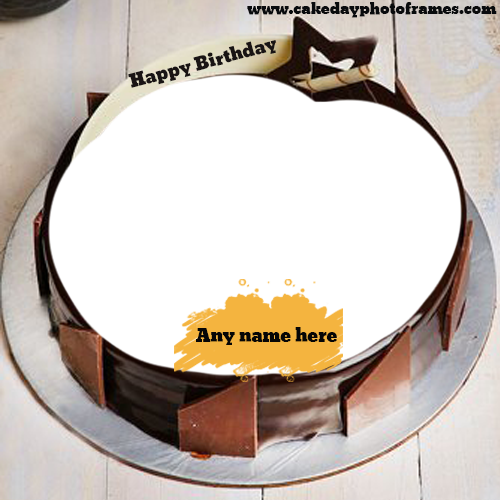 Wondrous Birthday Cake With Name And Photo Editor Online Free Funny Birthday Cards Online Overcheapnameinfo