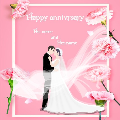 Happy Anniversary Greeting Card With Name Pic