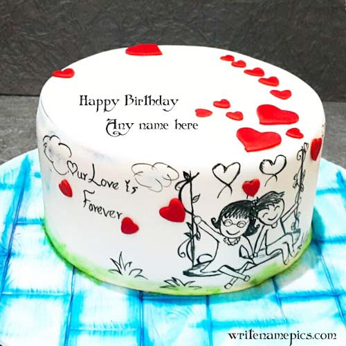Love Birthday Cake With Name - Writenamepics - Medium