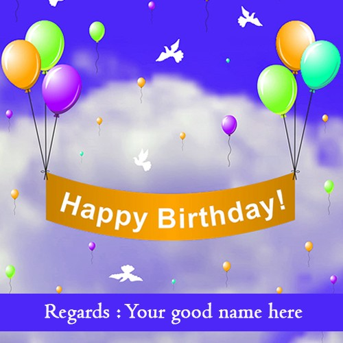 Birthday Wishes Card With Name Editing By Sup Drew Medium