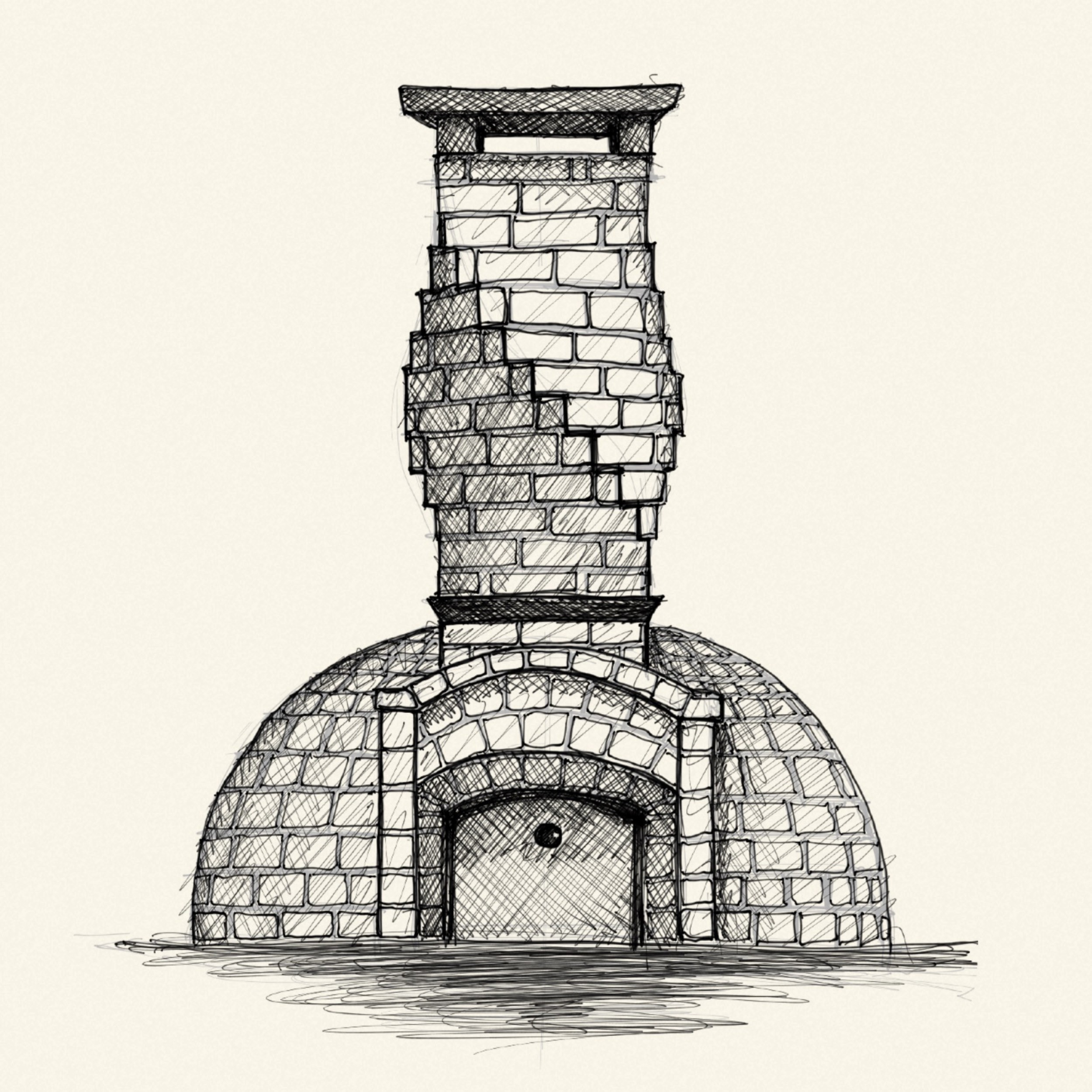 Pizza Oven Sketch