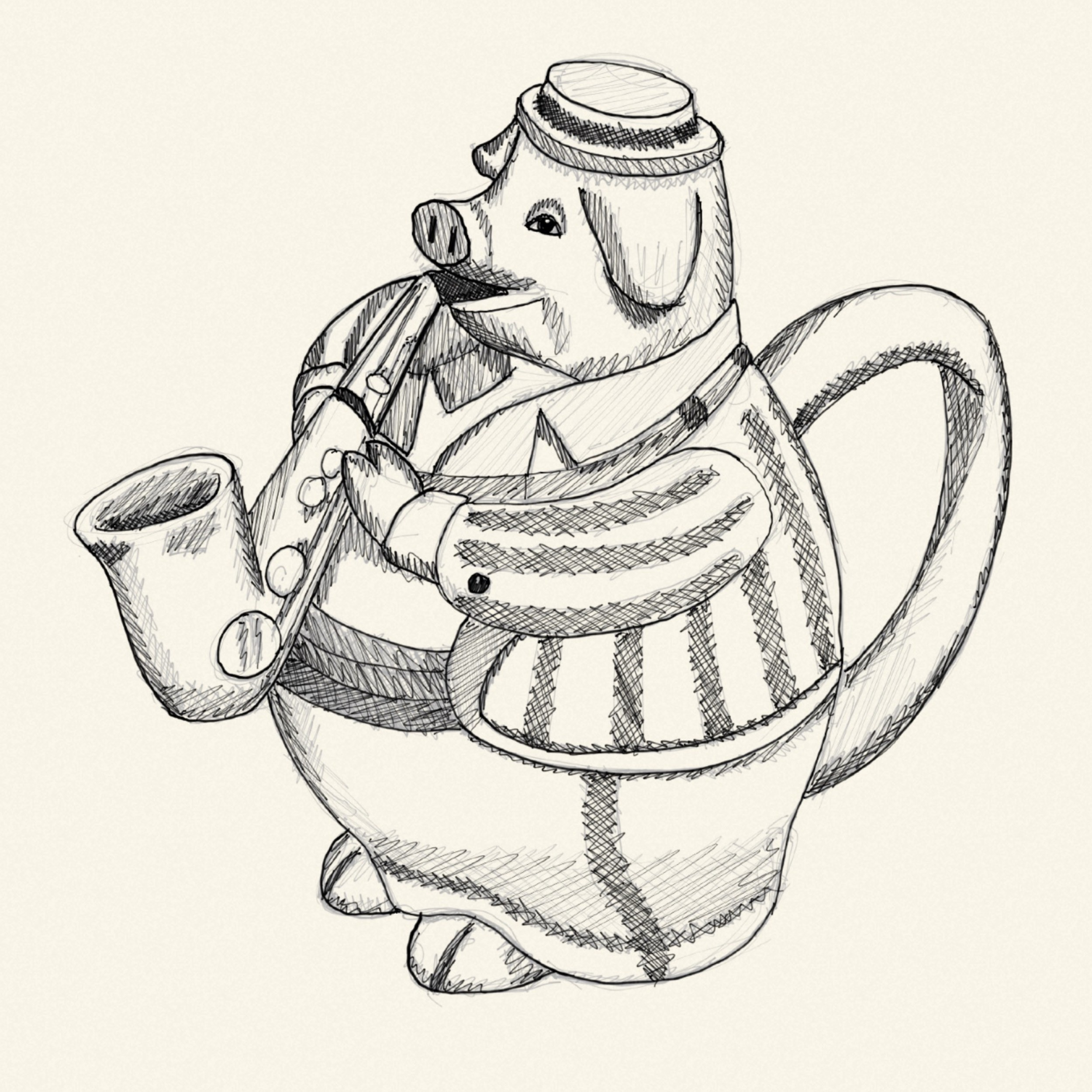Pig with a Saxophone