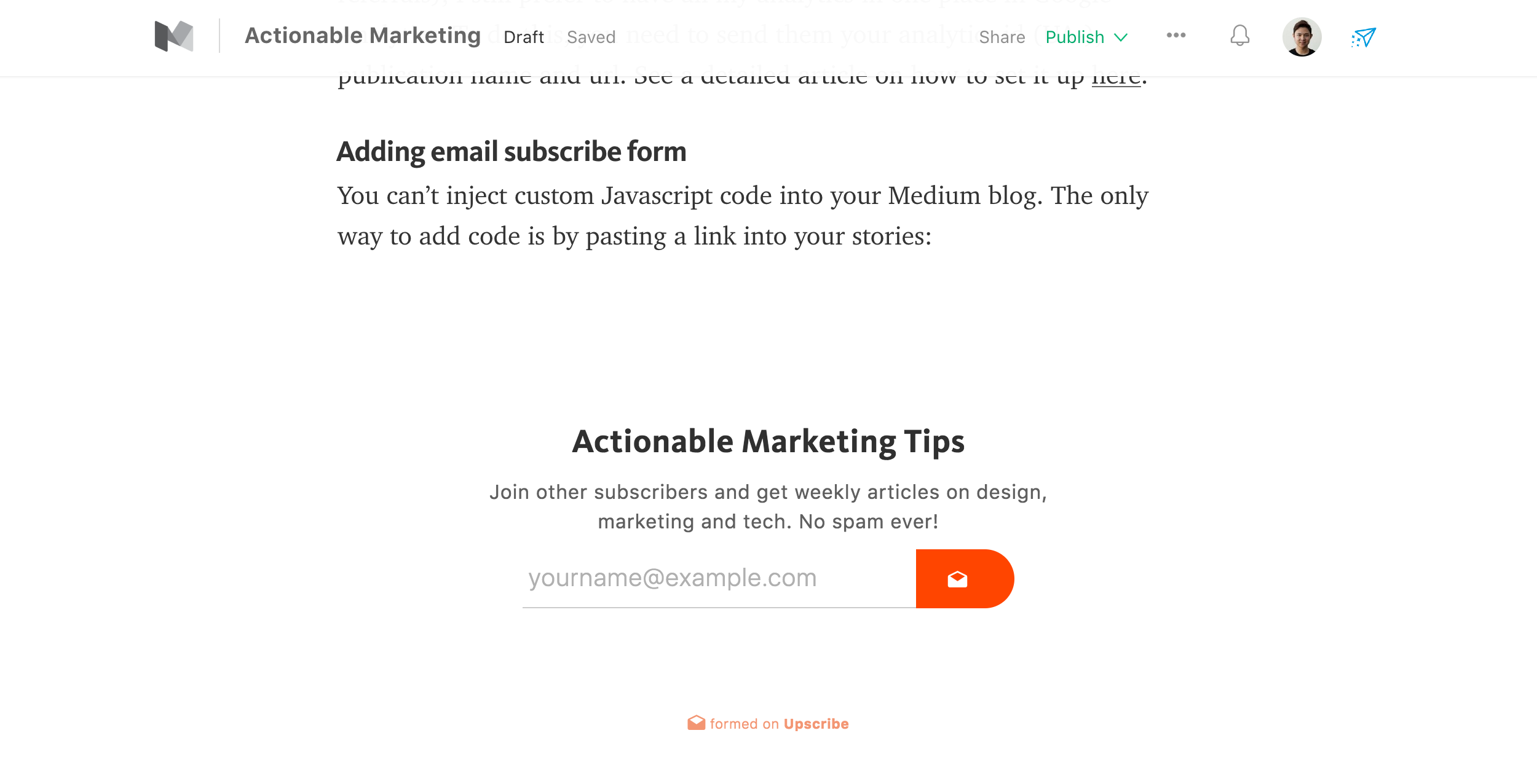 How to setup your business blog on Medium - Actionable Insights