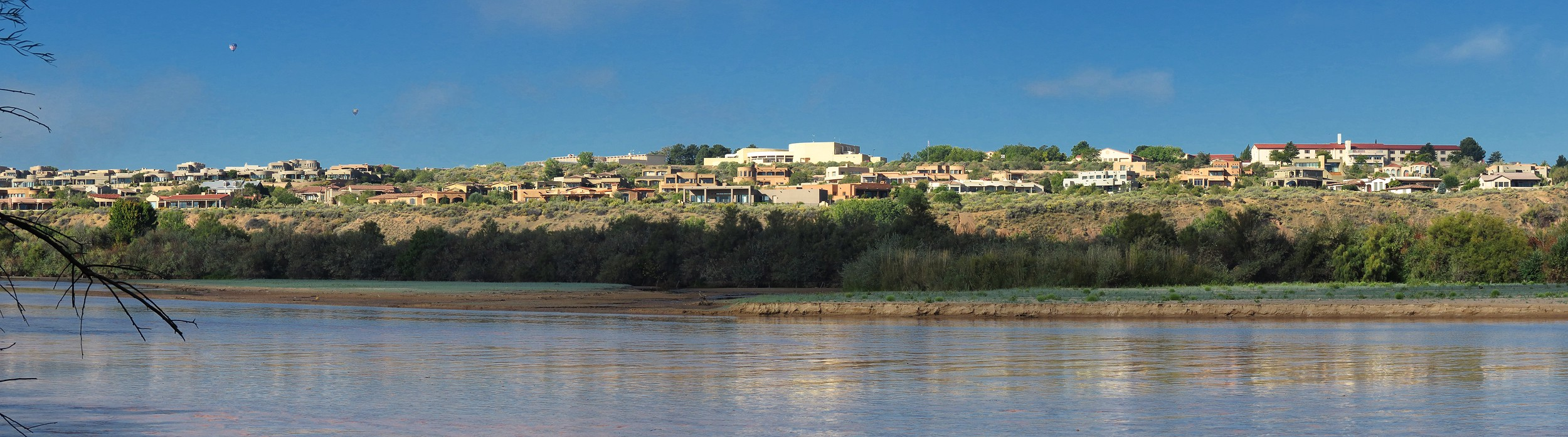 Development is already dense on the west bank of the Rio Grande in Albuquerque.