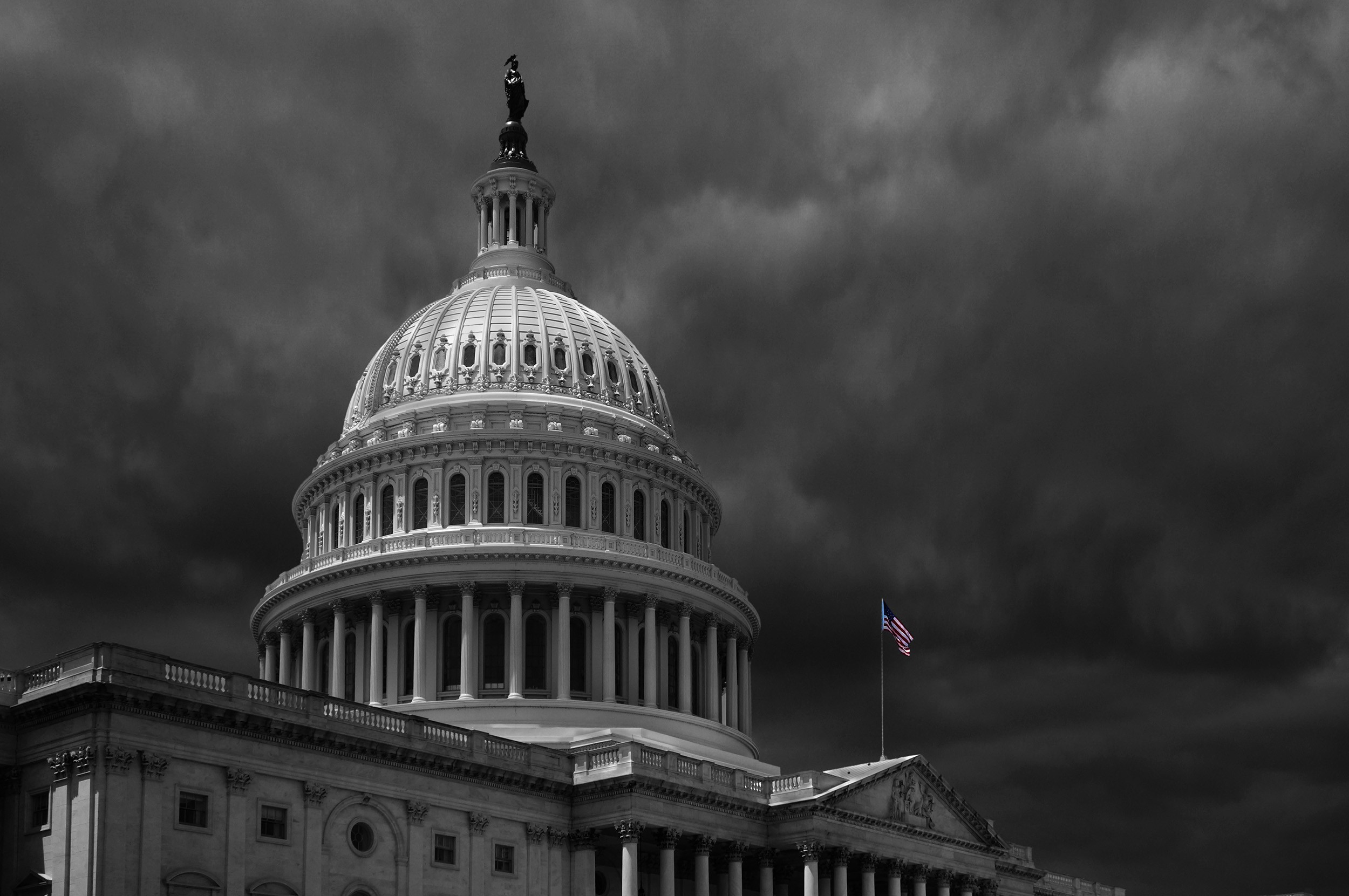 Storm clouds over US Capitol