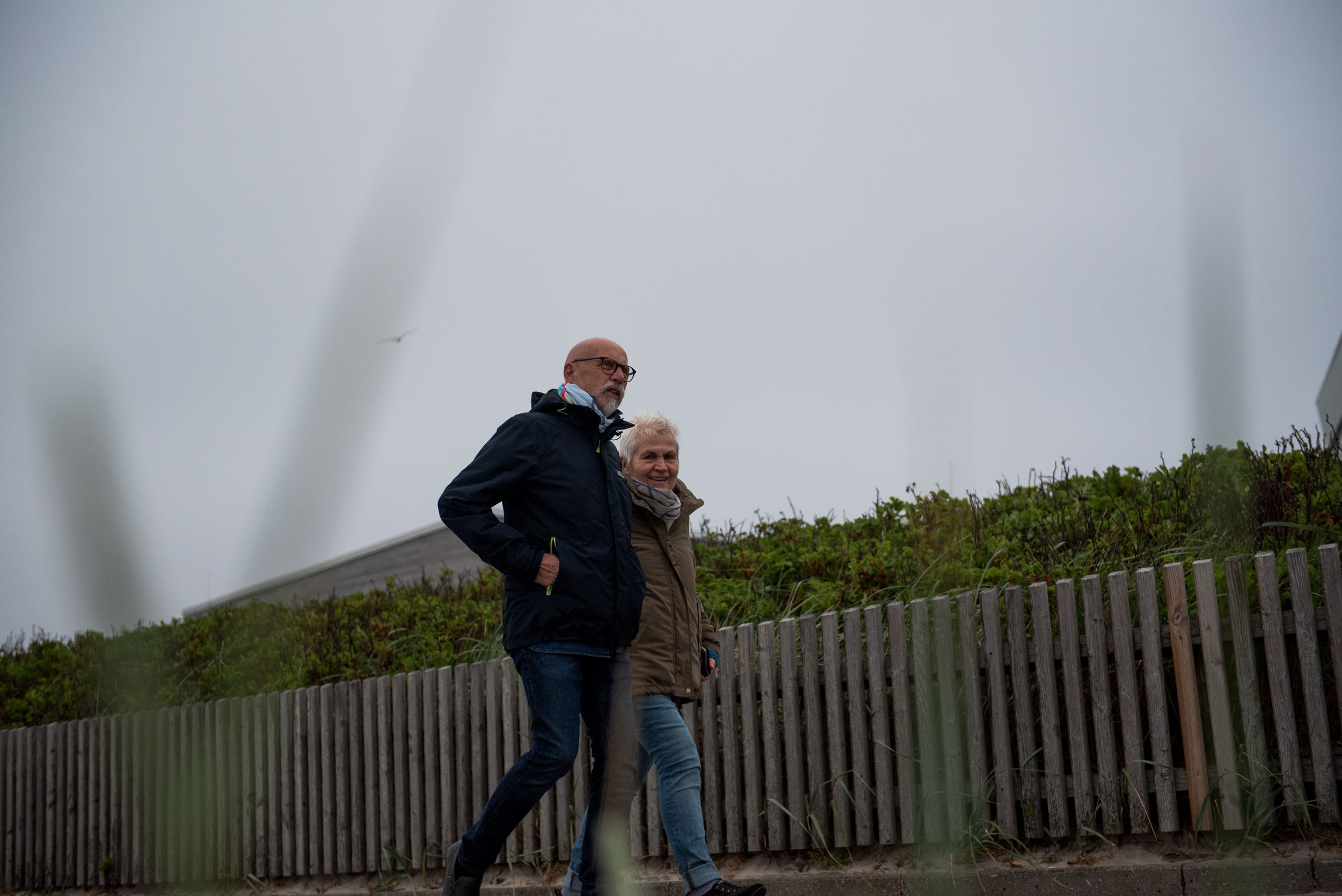 Mom and dad's first evening promenade walk on Sylt. Westerland, Germany, May 21, 2019.