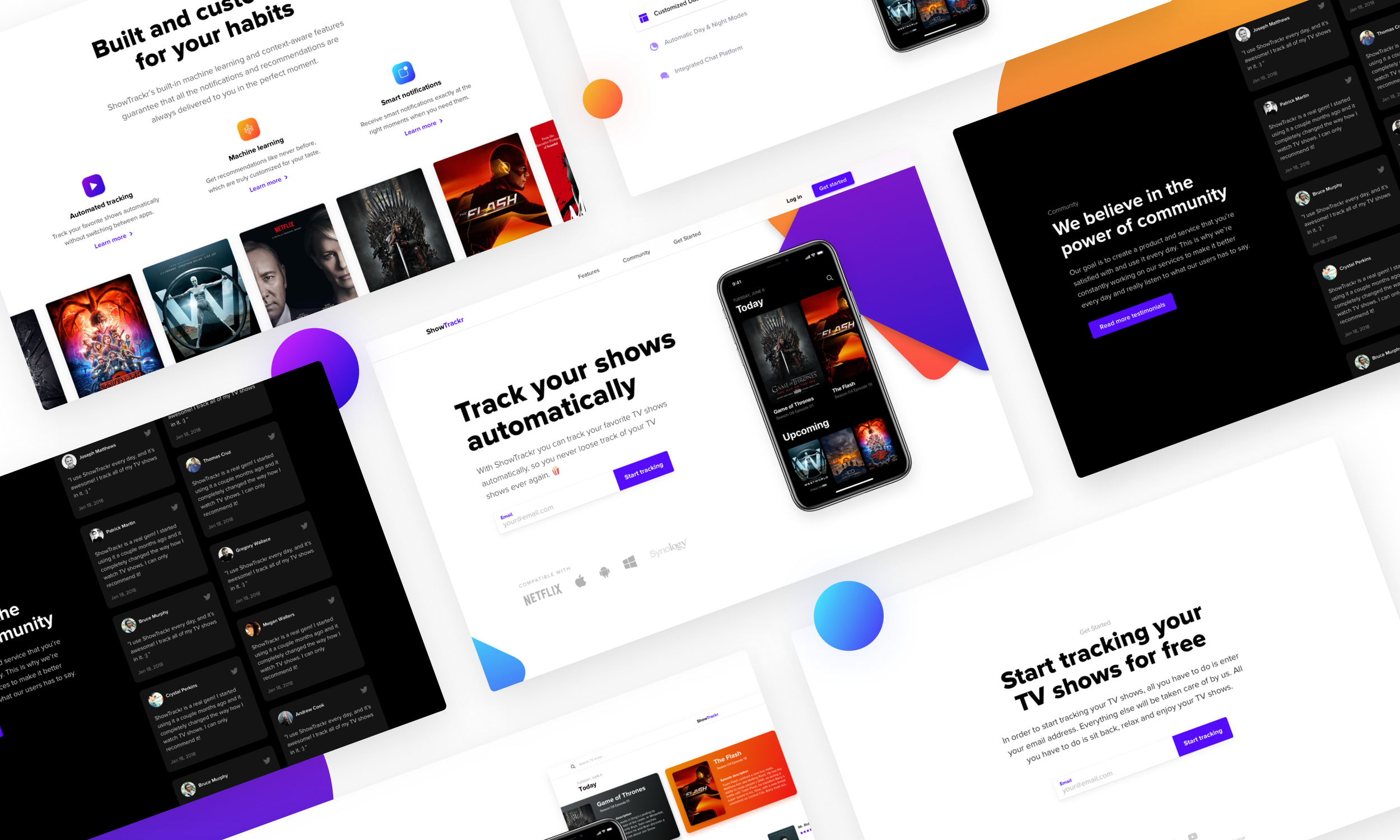 Showtrackr Ui Ux Case Study Of A Landing Page Optimized For Conversions By Daniel Korpai Muzli Design Inspiration