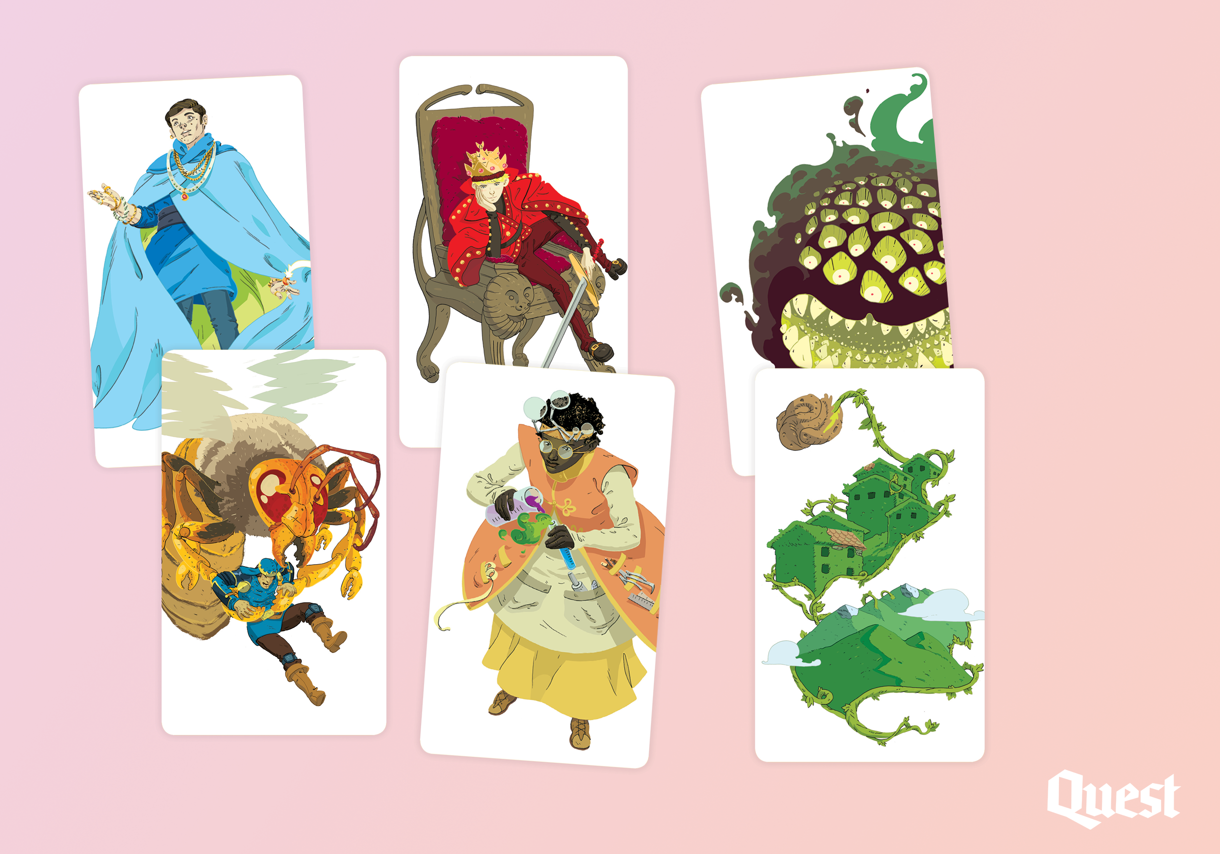A collection of 6 characters: The Aristocrat, The Tyrant, Fear Itself, Murder Hornet, Professor Prim, and Leaftide.
