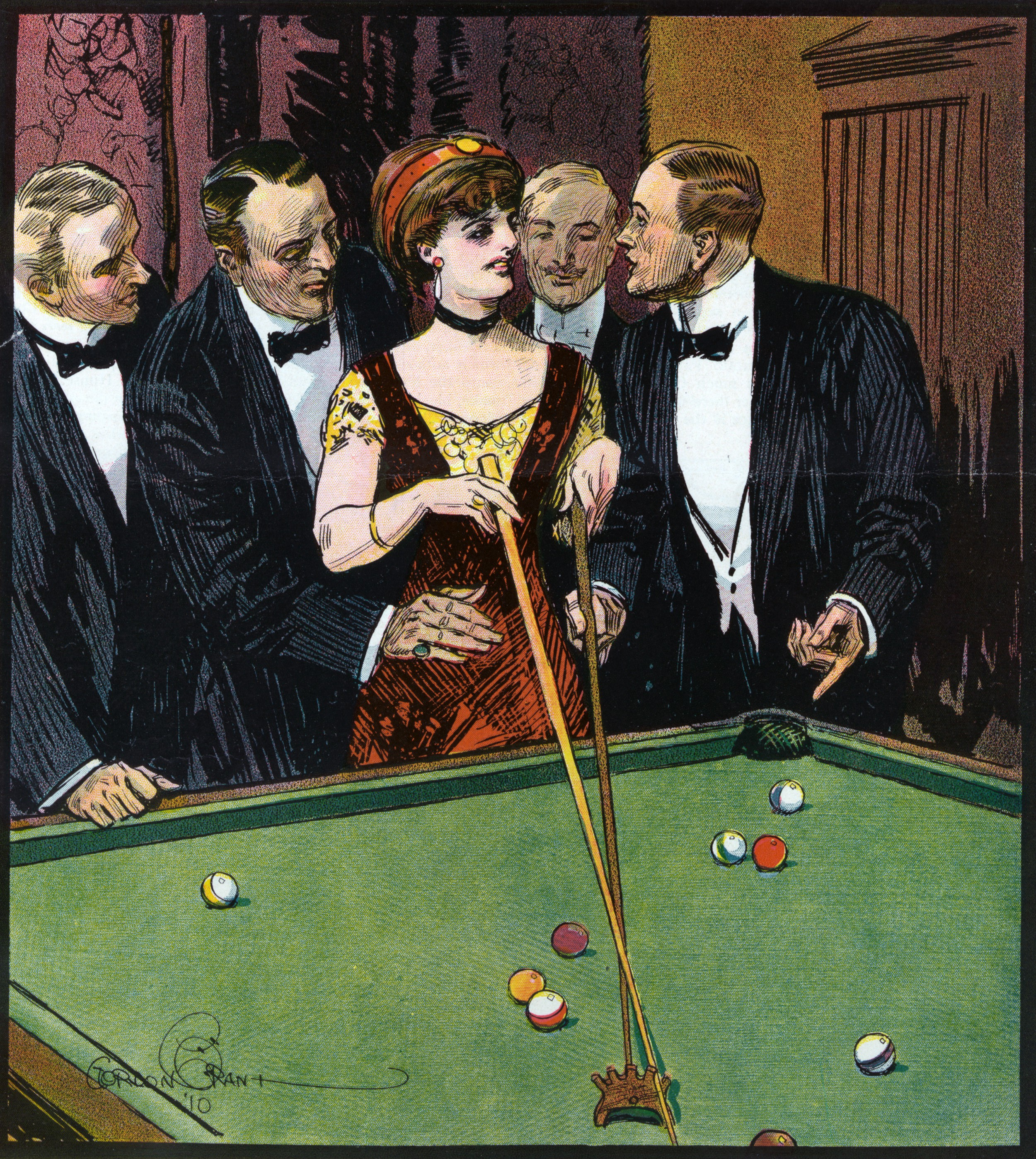 Images of the American pool hall show a man's world of