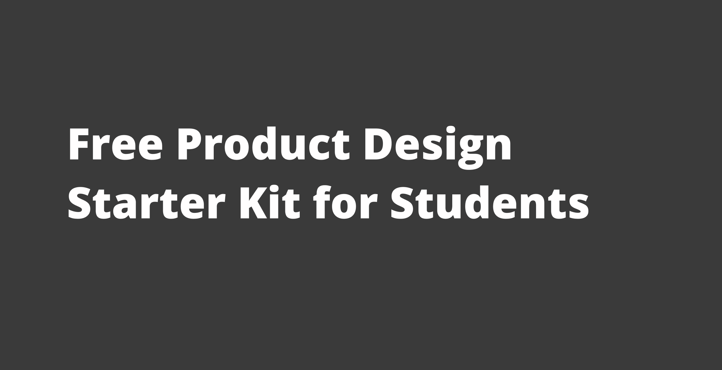 Free Product Design Kit for Students