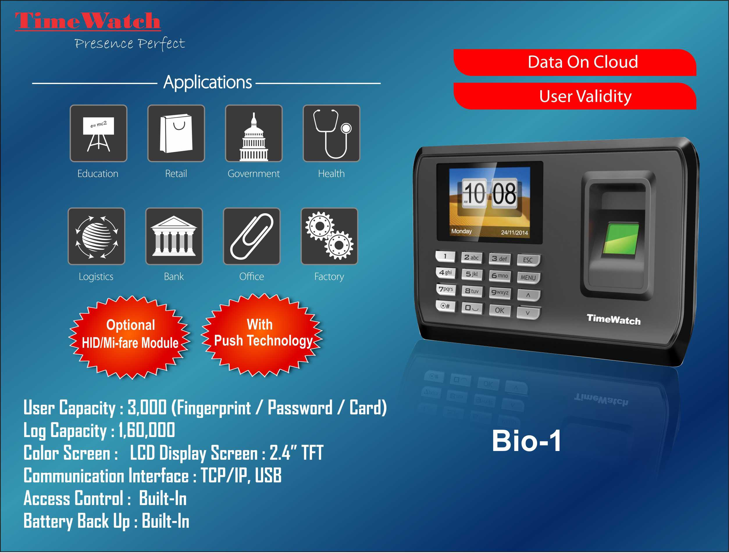 Biometric Attendance System - TimeWatchindia - Medium