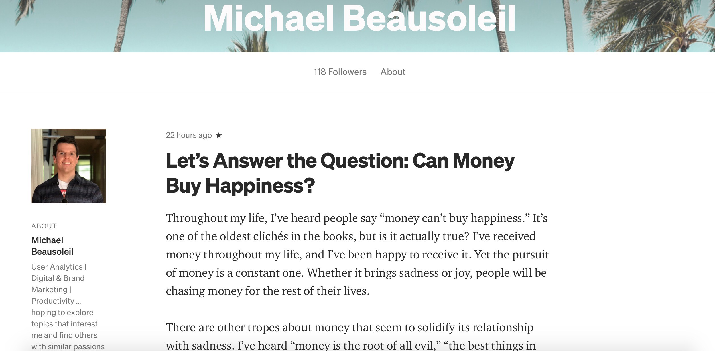 Michael Beausoleil Medium Profile