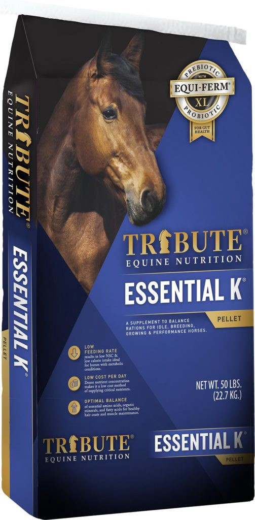 Tribute Equine Nutrition Essential K GC Plus Low-NSC, Joint Support Horse Feed