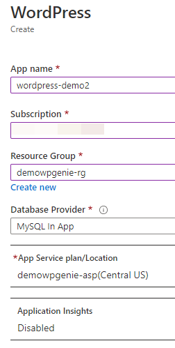 Configuring an App Service in Azure